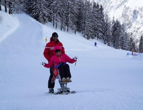 Sciare da disabile, che goduria
